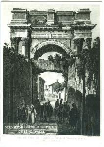Croatia, Porta Aurea Pola, unused Postcard
