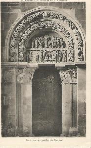 Postal 52502: VEZELAY. Puerta lateral de la Basilica