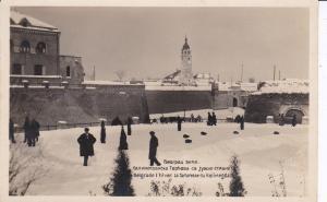 RP: Winter scene , BELGRADE , Serbia , La forteresse du Kalimegdan , 1910s