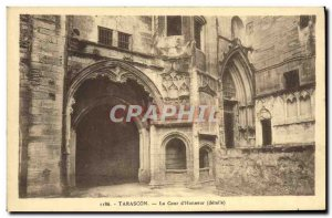Old Postcard Tarascon The Court & # 39honneur details
