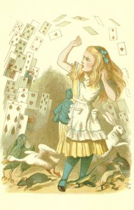 Pack Of Cards The Nursery Alice In Wonderland Victorian Book Postcard