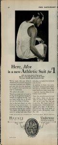 1927 Allen A Mens Athletic Suit $1.00 Vintage Print Ad 3921