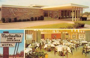 Crystal Lake Illinois Martinetti's Motel Cocktail Lounge vintage pc Z25997