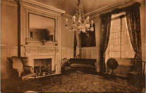 Vtg Illinois Room Memorial Continental Hall DAR Washington DC Linen Postcard