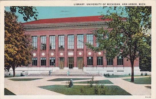 Michigan Ann Arbor Library University Of Michigan