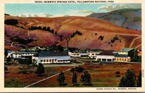 Yellowstone National Park Mammoth Springs Hotel Curteich