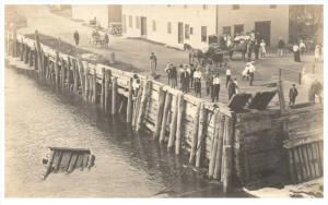 Maine Winterport   People on Dock RPC