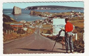 P298 JL older postcard perce quebec canada artist painting