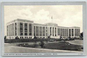 Lansing MI~Olds Motor Works Office Building~Oldsmobile~1920s Cars~Silver Border