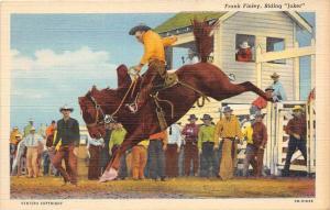 "13574 Frank Finley, Riding ""Joker"" Broncho Horse"