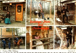Oklahoma Cookson Hills Greetings From Fort Chickamauga Multi View