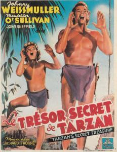 Tresor Secret De Tarzan Johnny Weissmuller Film Poster Art Rare Spanish Postcard