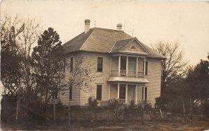 F53/ Odell Oconto? Nebraska RPPC Postcard 1911 Mansion Home