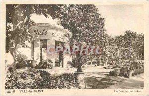Old Postcard Vals les Bains source saint jean