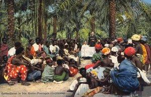 Ghana Gold Coast worship in the Krobo plantation Postcard