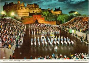 Military Tattoo Edinburgh Castle Scotland UK International Festival Postcard D58