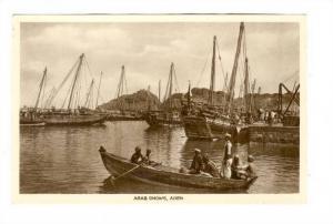 RP; Arab Dhows, Aden, Yemen, 1910-30s