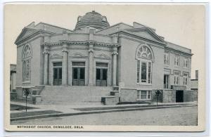Methodist Church Okmulgee Oklahoma 1920s postcard