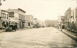 1920s Princeton Green Lake Wisconsin White Way Street View RPPC Co-Mo Postcard