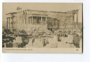 262165 GREECE ATHENES Erechtheion Cariatides Vintage photo PC