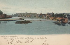 EASTON, Pennsylvania, 1901-07; Junction of the Lehigh and Delaware Rivers