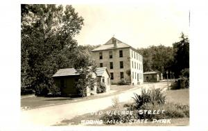 IN - Spring Mill State Park. Old Village Street  - RPPC