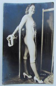 RPPC VINTAGE PHOTO POSTCARD NAKED GIRL WOMAN risque nude erotic
