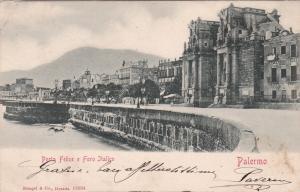 PALERMO , Italy , PU-1906 ; Porta Felice e Foro Italico