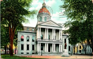 Concord NH State Capitol Postcard used 1900s/10s