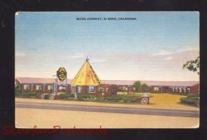 EL RENO OKLAHOMA ROUTE 66 MOTEL CONWAY LINEN ADVERTISING POSTCARD OKLA.