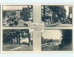 old rppc FOUR SCENES ON CARD Royal Tunbridge Wells - Kent - England UK HM1925