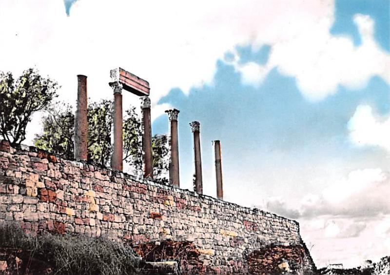 Byblos, Lebanon Postcard, Carte Postale Grecco Roman Columns Byblos Grecco Ro...