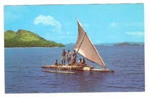 Fijian Outrigger TAKIA, Fiji, 40-60s