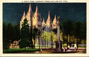 Utah Salt Lake City At Night