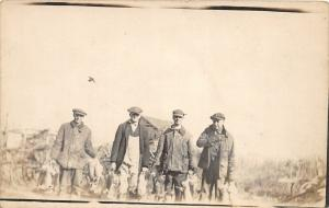 F25/ Interesting RPPC Photo Postcard c1910 Rabbit Hunting Men 5