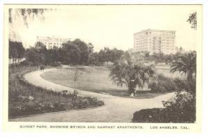 Sunset Park, Showing Bryson and Rampart Apartments, Los Angeles, California, ...