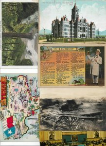 USA Mixed Postcard Lot of 10 Worth a Look! 01.14