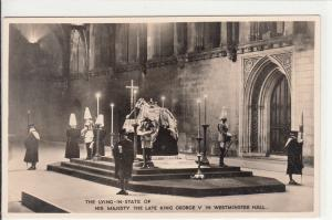 The Lying instate of his majesty the late king George V Westminster Hall