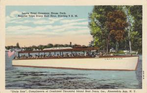 Uncle Sam, Leaving Hotel Crossmon House Dock, Thousand Island Boat Tours, I...
