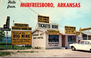 Arkansas Hello From Murfreesboro Arkansas Diamond Mine Ticket Office
