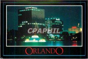 Modern Postcard Orlando Florida Reflected in Lake Eola