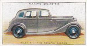 Player Cigarette Card Motor Cars No 33 Riley Eight-90 Adelphi Saloon