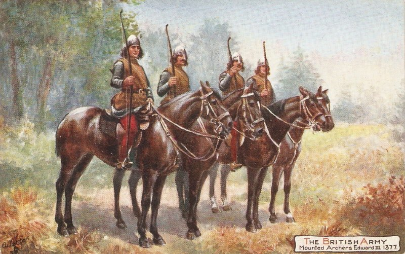 Harry Payne The British Army .Mounted Archers  Eduard II TuckOikette PC # 9478