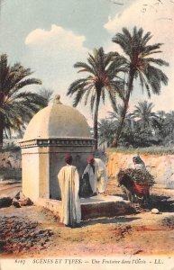 Une Fontaie dans l'Oasis Egypt, Egypte, Africa 1908 Missing Stamp