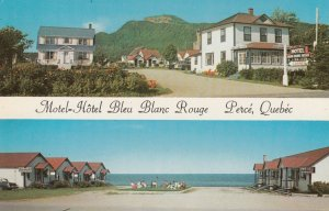 PERCE, QUEBEC, Canada, HOTEL BLEU BLANC ROUGE, 50-60s
