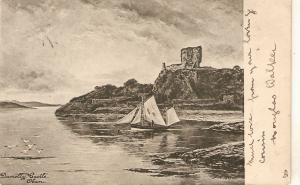 Dunolly Castle.Oban Tuck Art Sries PC # 944