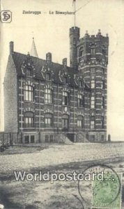 Le Semaphore Zeebrugge, Belgium 1920 Missing Stamp