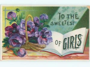 Divided-Back BEAUTIFUL FLOWERS SCENE Great Postcard AA3024