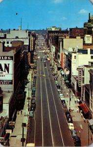 New York Syracuse Downtown Looking Down From Chimes Building 1956