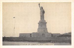 New York City~Statue of Liberty~1930s Lumitone Postcard